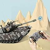 Tanque de Control Remoto Tanque de Batalla RC RC Tank Toy con Cable de Cargador USB de 2.4GHz con torreta giratoria y Juguete de Sonido para niños niños