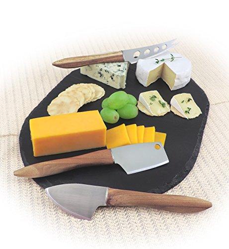 Swissmar 3 Piece Acacia Knife Set, Natural