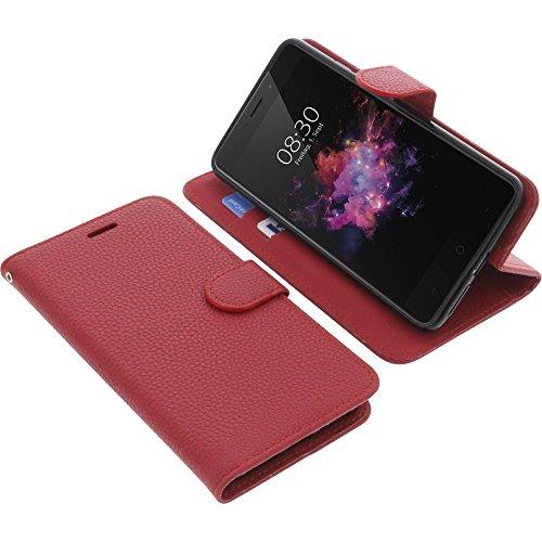 foto-kontor Tasche für TP-Link Neffos X1 Max Book Style rot Schutz Hülle Buch
