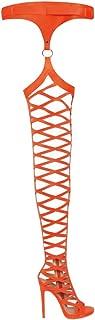 Best neon orange thigh high boots Reviews