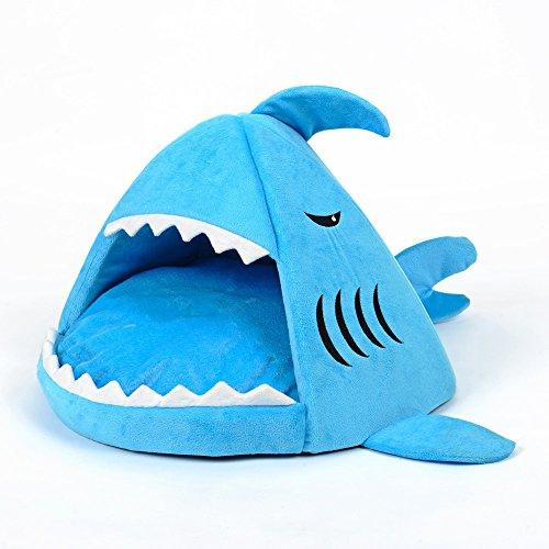 exo.nu Cute Shark Open Mouth Shape Inverno Caldo Cotone Morbido Tappetino Cuscino Rimovibile Pet Dog Kennel Cucciolo Gatto Cave Bed Pad Pet House Home