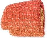 Bassetti Trapunta, Piumone Invernale Matrimoniale 260x260 cm, Dis. LUMA, col. Arancio, Imbottitura 300gr/mq in 100% Fibra anallergica di Poliestere, Tessuto esterno100% Cotone, Made in Italy