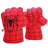 Yxaomite Superhero Gloves Boxing Gloves Smash Hands Big Soft Plush Hero Fists, Superhero Toys for Boys Girls, Role Play Costume Birthday Gift for Toddlers Kids Age 3+ ( 1 Pair Red)