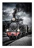 Train photo poster