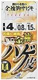 ハヤブサ(Hayabusa) これ一番 金袖鈎 ハゲ皮サビキ 6本鈎 3-0.6 HS713-3-0.6