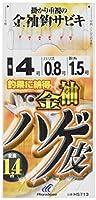 ハヤブサ(Hayabusa) これ一番 金袖鈎 ハゲ皮サビキ 6本鈎 10-3 HS713-10-3