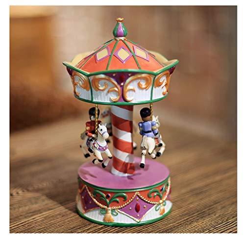 Cajas Musicales Caja de música La caja de música del carrusel, la resina de la caja de música, presente regalo de cumpleaños linda del juguete for el bebé, niñas, niños, hija, amigos, Decorar regalo d
