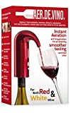 Electric Wine Aerator Decanter. Portable USB Recharge Dispenser Pump Wine Pourer | One-touch Triple Aerator Function, Instant Oxygenation. Enriched Smoother Tasting Red & White Wine. AerDeVino