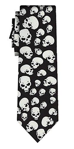 Cravate skulls II, blk