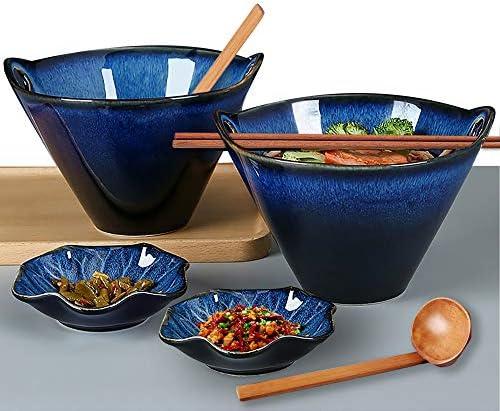 Porcelain Ramen Bowls Set of 2 8 pcs Farielyn X 26 Ounce Japanese Ramen Udon Noodle Miso Bowl product image