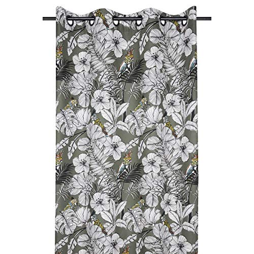 marque STOF Rideau à œillets 135x250 cm Guatemala Kaki Coton