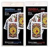 Maestros Naiperos- baraja española, 50, Cartas, Blister, Calidad Casino Popular, Color...