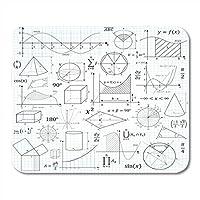 マウスパッド学校大学およびトレーニング用の数学の公式と基本的な数式記号チートスリップ数学マウスパッドラップトップ、デスクトップコンピューターオフィス用品マウスマット