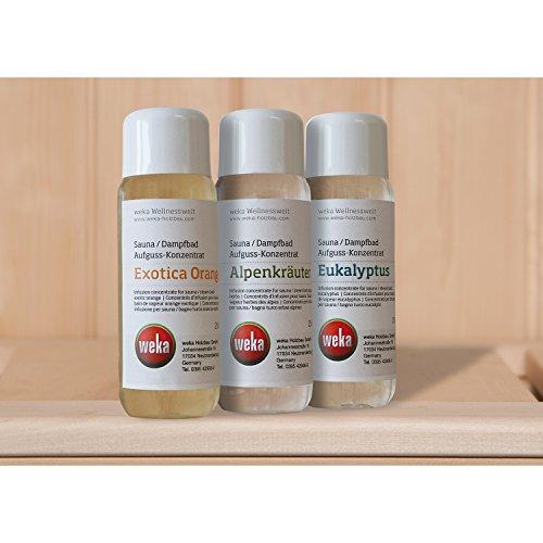 Weka 3er-Sparset-Saunaaufgusskonzentrate, 750 ml
