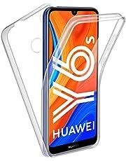 Reshias Funda para Huawei Y6s, 360°Full Body Protección [Suave TPU Silicona Delantero] [PC Dura Atrás] Transparente Flip Protectora Carcasa para Huawei Y6s 2020 (6,09 Pulgadas)