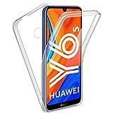 Reshias Hülle kompatibel mit Huawei Y6s, 360° Full Schutz [Weich TPU Silikon Vorderseite] [Harter PC Zurück] Transparent Handyhülle Schutzhülle für Huawei Y6s 2020 (6,09 Zoll)