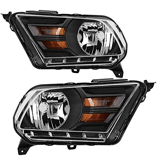 AUTOSAVER88 Headlight Assembly Compatible with Ford Mustang 2010 2011 2012 2013 2014