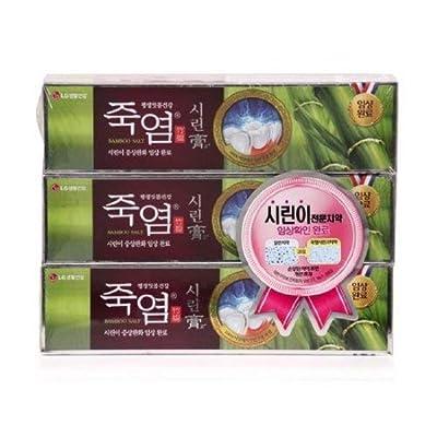LG Shiringo Bamboo Salt Toothpaste for Sensitive Teeth 120gram (4.23ounce) x 3 counts