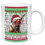 teesquare1st Christmas Great Dane 11oz Tazza da Caffe Natalizia/Tazza di Natale