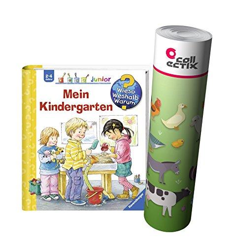 Ravensburger Junior livre 2-4 ans | Mon jardin d'enfants + enfants animaux de la ferme