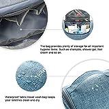 Kulturbeutel Waschtasche Unisex - Acdyion Aufhängen Kosmetiktasche Reise-Tasche für Herren und Frauen für Koffer & Handgepäck Urlaub Waschbeutel Toiletry Bag (Blau) - 5