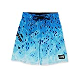 PELAGIC Sharkskin Dorado Fishing Shorts - Kids Size L Blue Dorado