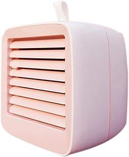 Warmwin Aire Acondicionado portátil Mini USB Enfriador de Aire Ventilador humidificador de refrigeración Aire Acondicionado Forma rápida y fácil de Rosa