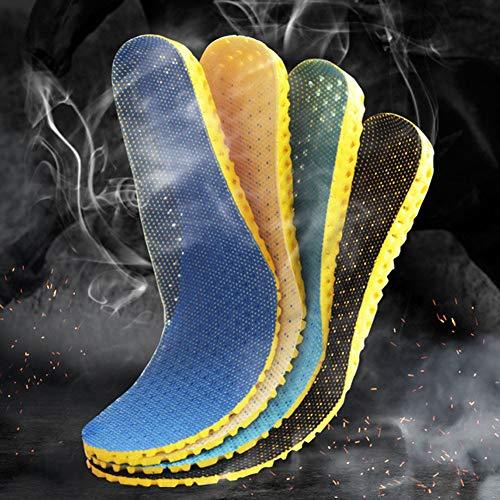 MSHOLY 3 Pares Plantillas de Memoria ortopédica Espuma Deportiva de Espuma Insertar Mujer Zapatos Zapatos pies Suelas Pad (Color : Black, Shoe Size : 37)