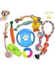 Grupo de Juguetes para Perros Durable Masticable Cuerda Soledad Grupo de Juguete para Perrito Pequeño Medio Solitario para Mantener a su Perro Sano 10 Piezas
