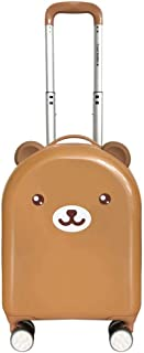 """XLHJFDI Cute Trolley Case, Trolley Case,Lightweight Trolley Case,ABS + PC Trolley Case,Silent Universal Wheel Suitcase,18"""" Inches (Color : Brown)"""