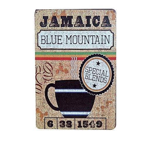 WallAdorn Blue Mountain Koffie IJzeren Poster Schilderij Tin Teken Vintage Muurdecoratie Voor Cafe Bar Pub Thuis 8x12