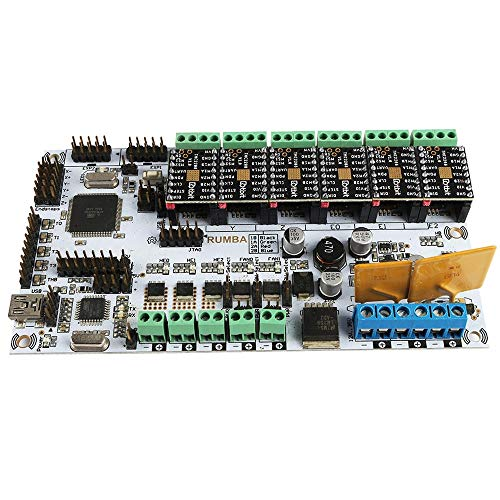 Sjidasj9 3D Printer Controller Board MKS RUMBA Motherboard + 6x TMC2208 Driver Kit