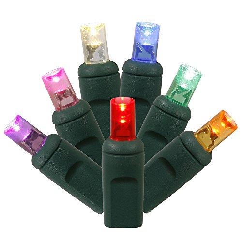 Vickerman Single Mold Wide Angle LED Christmas Set String-Lights, 70Lt, Multicolor