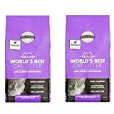 World's Best Cat Litter Long Lasting Performance Multiple Cat Clumping Formula, Lavender Scent, 15 lbs (pack 2)