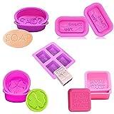 Keleily Seifenformen Silikon Handmade 9Pcs Seifenform Cupcake Formen Muffin Formen, Quadratische...