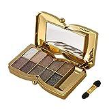 Tashido Diamante Brillante Colores Sombra de ojos de Maquillaje Super conjunto de Maquillaje Flash Brillo Paleta de Sombra de ojos con cepillo (5#)