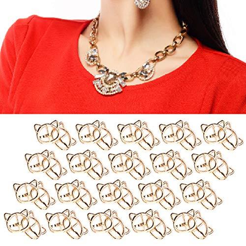Hebilla de pasador con forma de cabeza de gato 0,6 x 0,8 pulgadas para accesorio de ropa