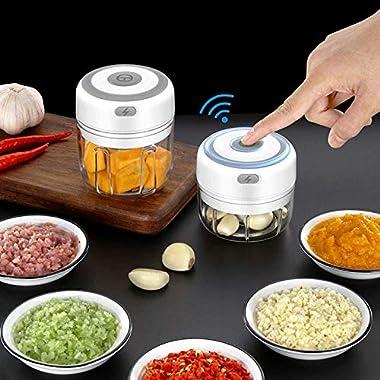 Oz Food Chopper Electric, USB Charging Portable Vegetable Kitchen Food Processor and Blender for Cutter Vegetables/Meat Grind