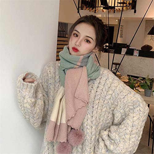 Waniii sjaal vrouw herfst en winter studenten wild japans sjaal Engels schattig meisje in wind