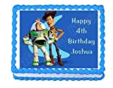 Cakes for Cures Buzz Lightyear and Woody Toy Story Edible Cake Topper Frosting Sheet Decoration