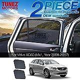 TUNEZ® Parasol para ventana lateral de coche magnético para puerta trasera (compatible con Volvo XC60 5dr año 2009-2017)