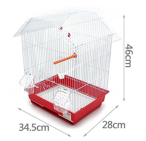 BPS Jaula Pájaros Metal con Comedero Bebedero Columpio Saltador Cubeta Color envia al Azar (34.5 x 28 x 46 cm) BPS-1152