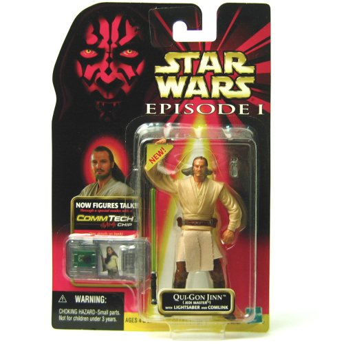 Star Wars Episode 1 - Action Figur 84107 – Qui-Gon Jinn (Jedi Master) (inkl. CommTech Chip)