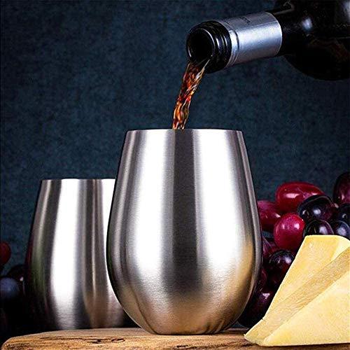 Stainless Steel wijnglazen Grote Stemless Goblets 18 oz Shatterproof Metal Drinken Tuimelaars Tumbler Cup zhihao