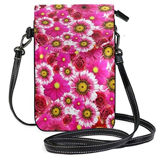 XCNGG - Monedero para mujer, diseño de flores, color rosa