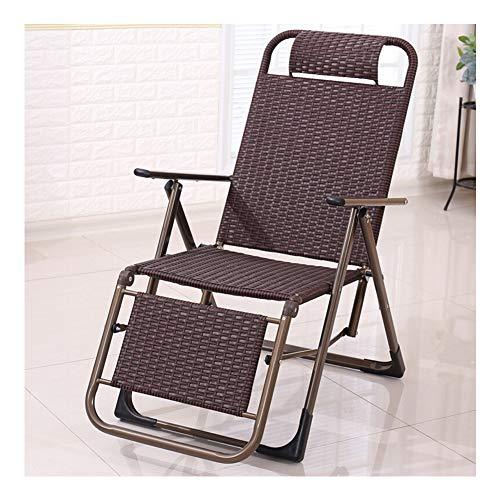 GLMAS ligstoel thuis, rotan stoel kantoor lunch pauze ligstoel vouwstoel zomer huis vouwen rotan stoel