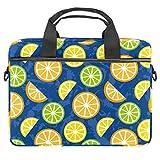 TIZORAX - Funda para portátil con asa (15-15,4 pulgadas), diseño de limones y limas