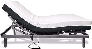 Duérmete Online Somier Articulado Eléctrico Reforzado 5 Planos (Taco de Caucho) + Colchón Artimat Plus Viscoelástico, 105x190