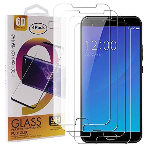 Guran 4 Pezzi Pellicola Protettiva in Vetro Temperato per UMIDIGI C Note 2 Smartphone 9H Durezza Anti-Impronte HD Alta Trasparenza Pellicola