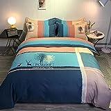 Bedclothes-Blanket Juegos de Cama de 90,Artículos Soldados, algodón, Enrejado Rayado Simple.-C_1,5 m de Cama (20 * 230cm)